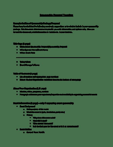 sponsorship proposal sample 7461