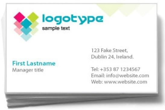 Visiting Card example 25.41
