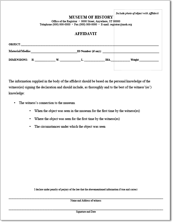33+ Free Affidavit Form Templates In Word Excel PDF  General Affidavit Example