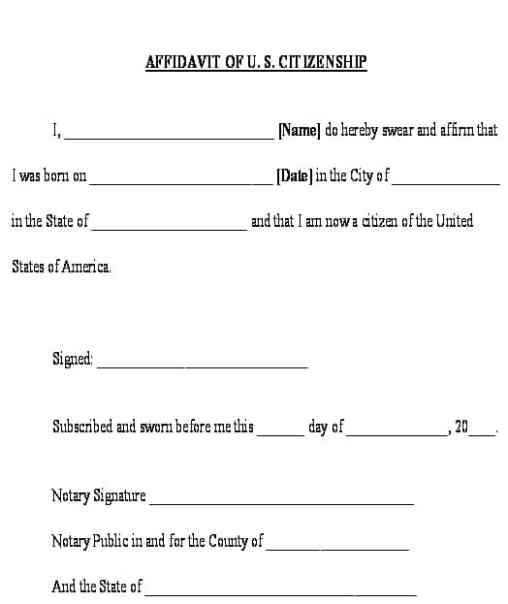 affidavit form example 4941