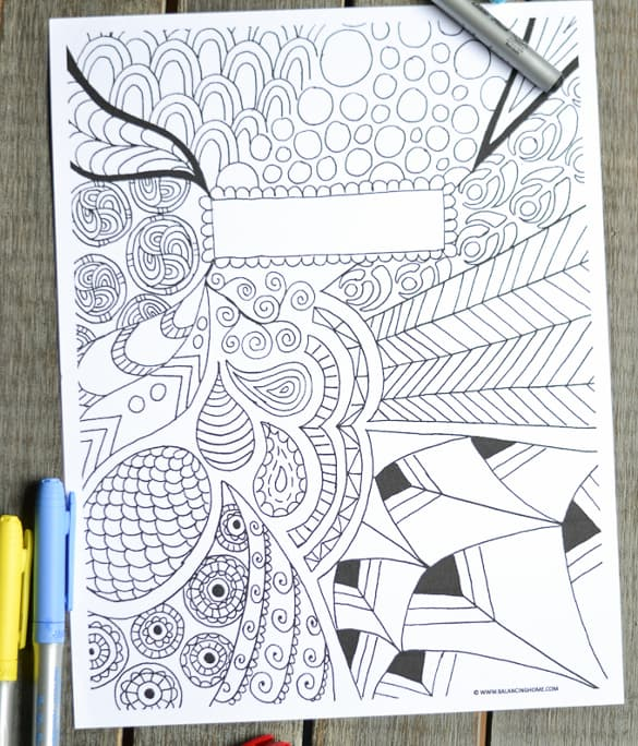 Colouring Book Cover Template : Coloring page binder cover printable notebook