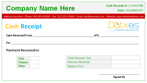 cash receipt example 1.461
