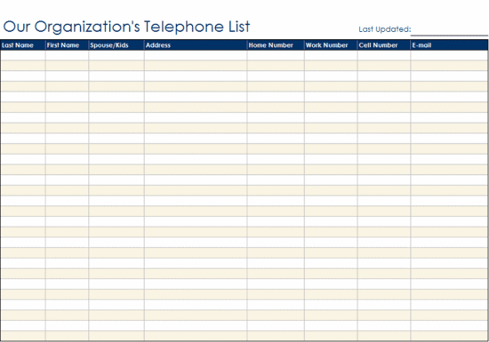 contact list sample 12.94