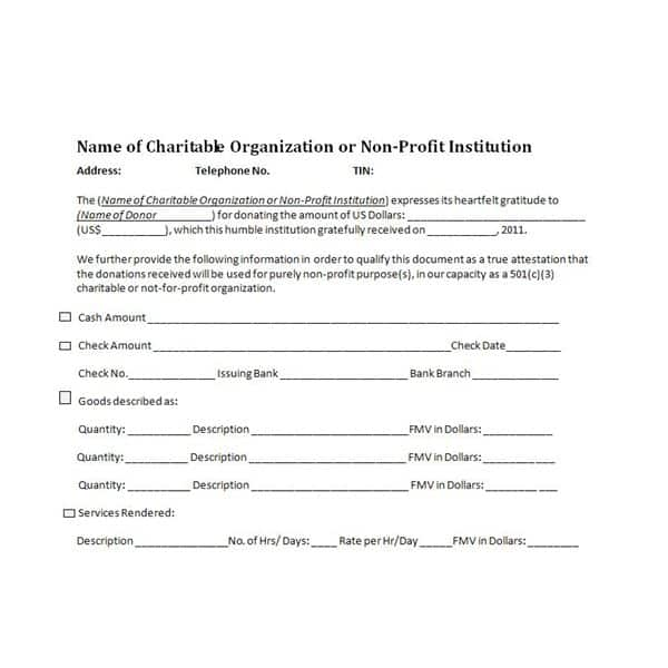 36+ Free Donation Form Templates in Word Excel PDF