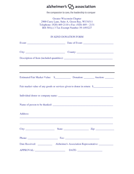 donation form example 69741