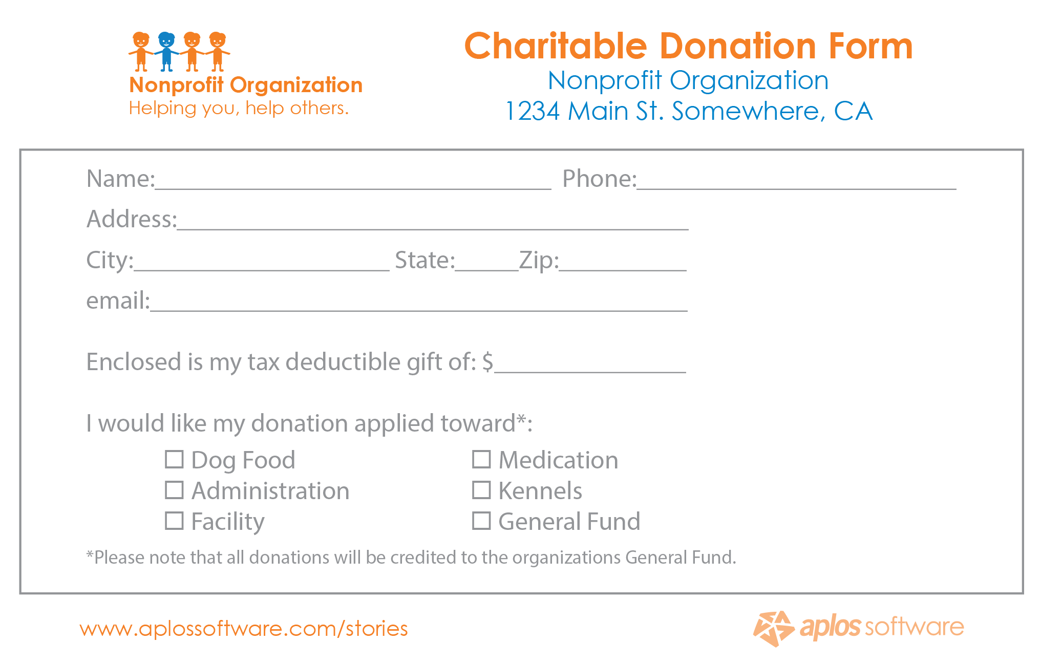 Perfect Donation Form Template 10.9641 Within Donation Pledge Form Template