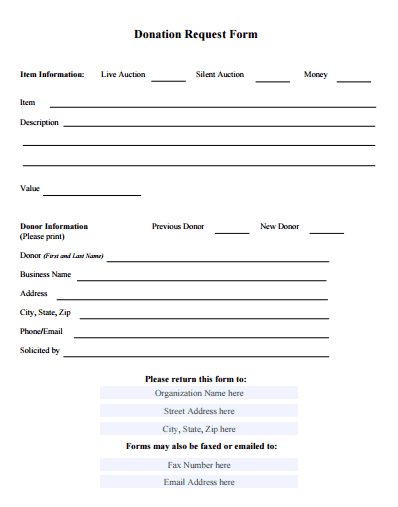 Donation Form Template 59741  Fundraising Form Template