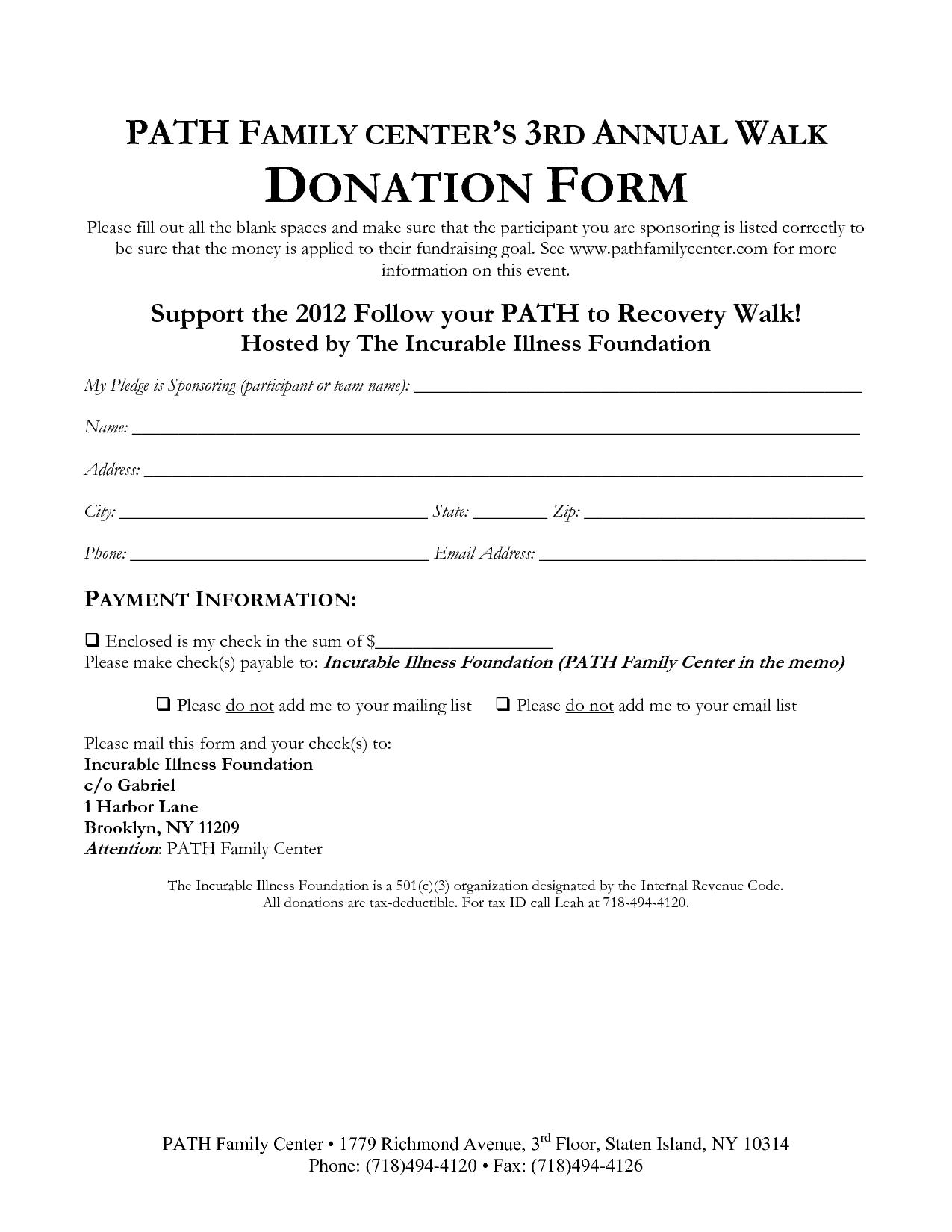 21 Free 36 Free Donation Form Templates