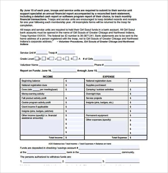 Financial Report Sample 3461  Annual Financial Report Sample