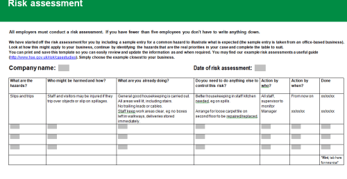 free assessment template 6941