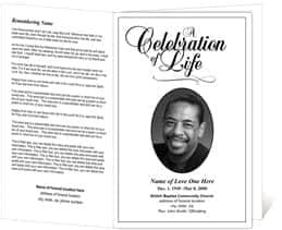 free obituary program template download