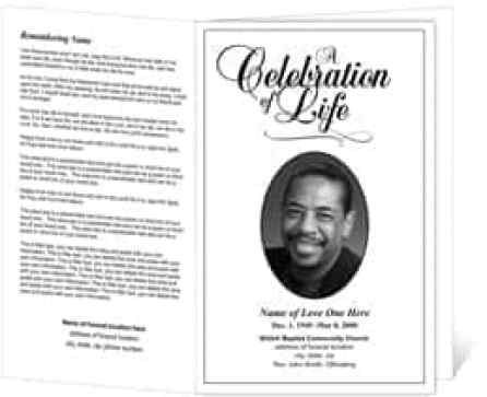 Funeral Programs Sample. Funeral Program Template -- Spring Garden