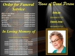 Free Funeral Program Template 241