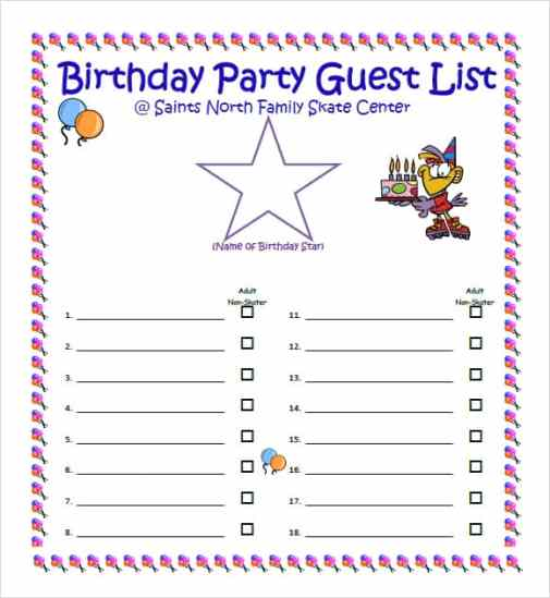 guest list example 17.941