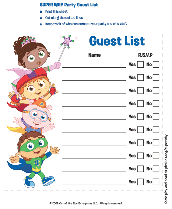 guest list example 23.94