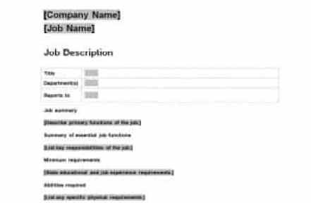 job description sample 4941
