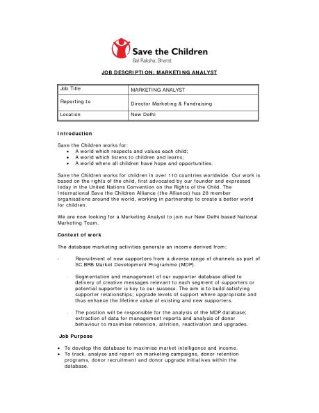 job description sample 8941