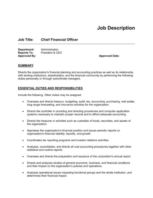 job description sample 9941