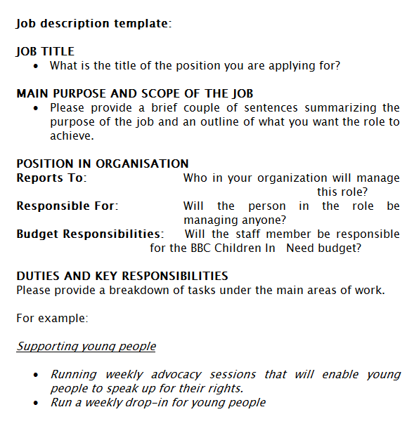 job description template 49741