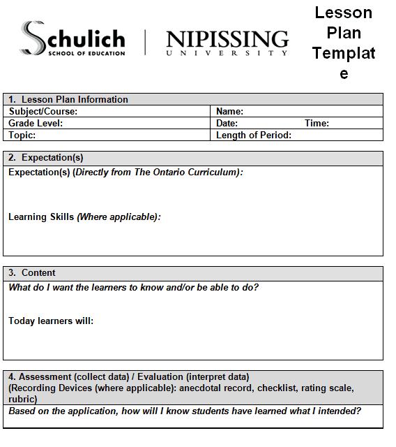 lesson plan template 2941