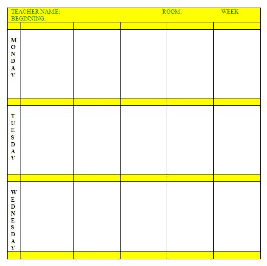 lesson plan template 49741