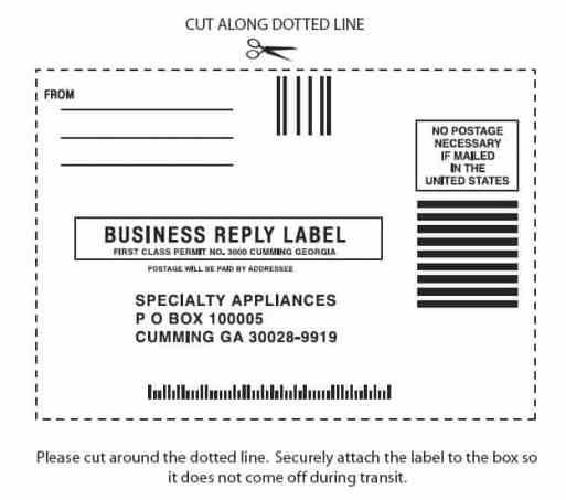 mailing label sample 741