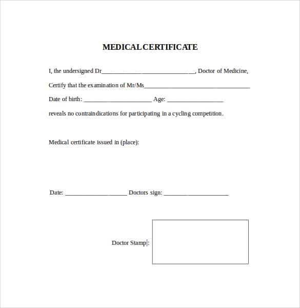 medical certificaet example 24.641