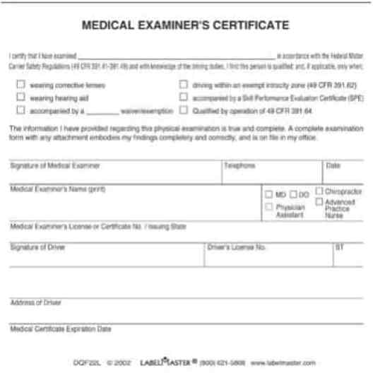 medical certificaet example 3941