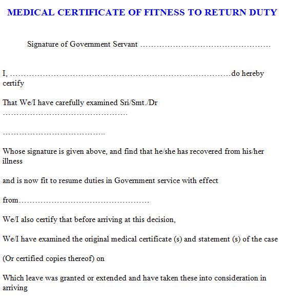 medical certificaet template 3941