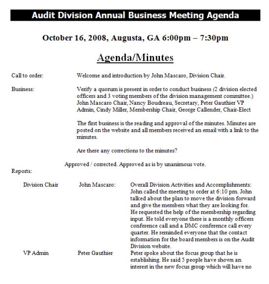 meeting agenda format 2541