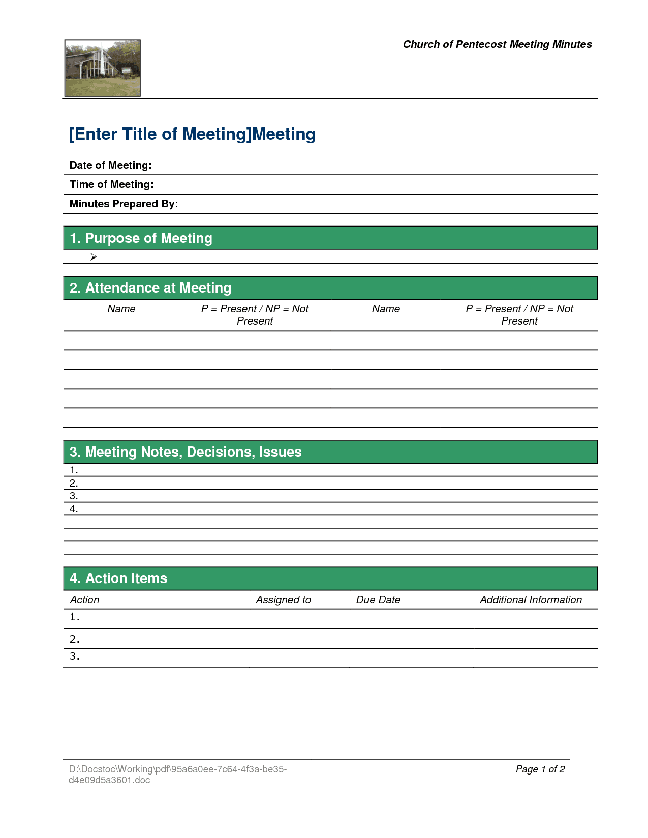 21 Free Meeting Minutes Template Word Excel Formats