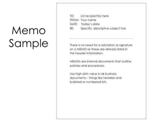 memo sample 12.41