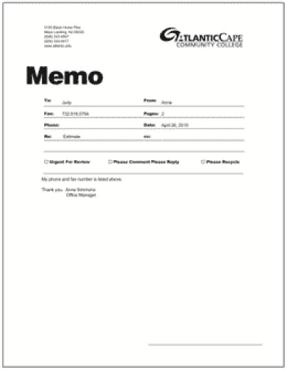 memo sample 17.641