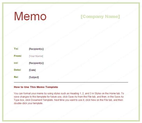 memo sample 3941