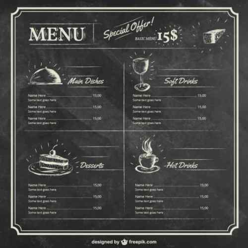 menu sample 1641