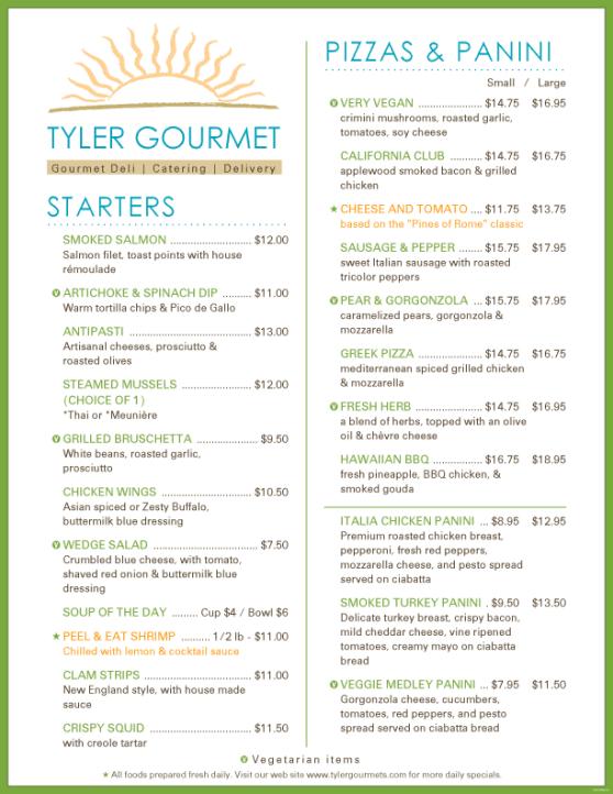 menu template 185741