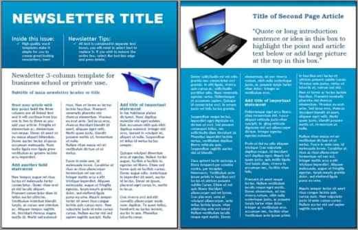 newsletter sample 4711