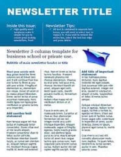 newsletter sample 8741