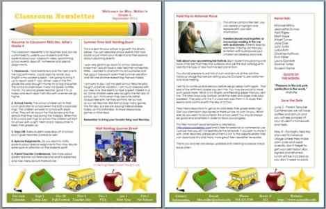 newsletter template 25441
