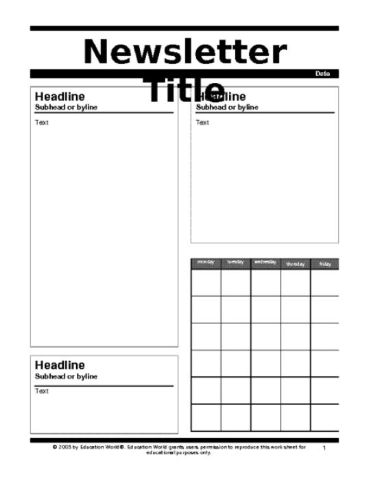 newsletter template 3641