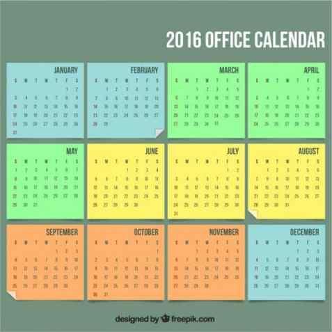 office calendar sample 29641