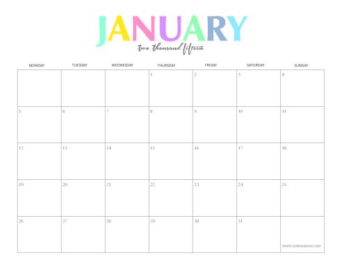 office calendar sample 6941