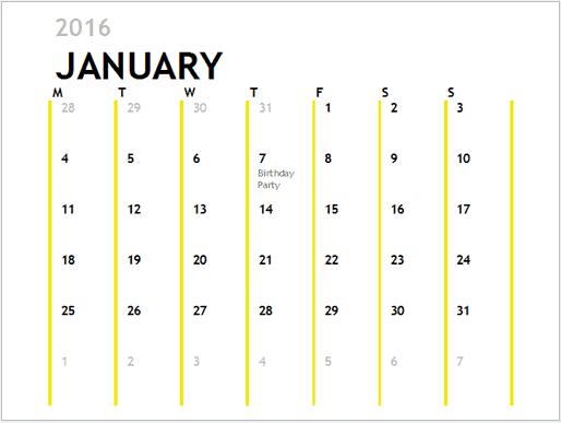 office calendar sample 79641