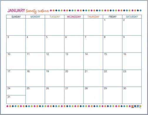 office calendar sample 9461