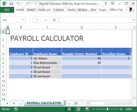 19 free payroll template word excel formats