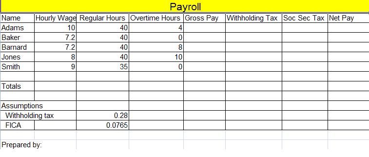 Payroll Template 2641  Payroll Templates