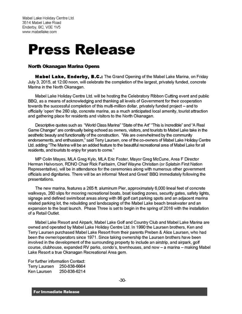 Press release example for event for Event press release template word