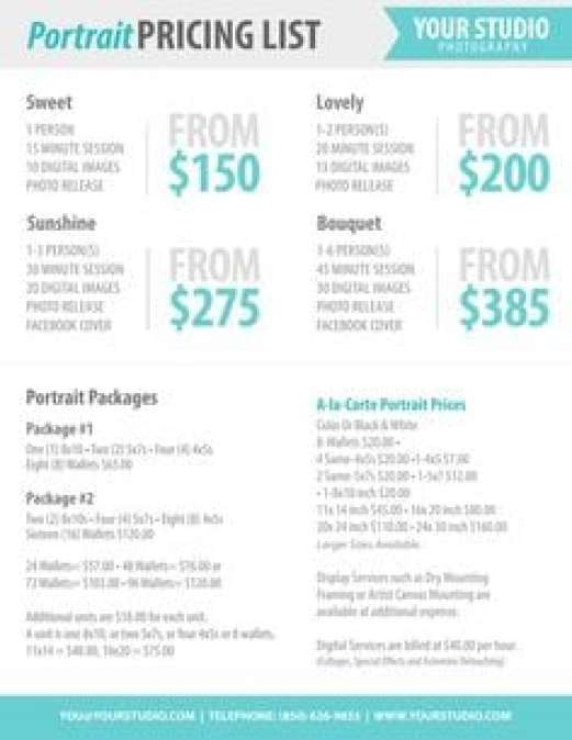 21 Free Price List Template Word Excel Formats – Sample Price List