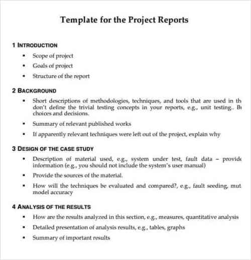 21 free project report template word excel formats