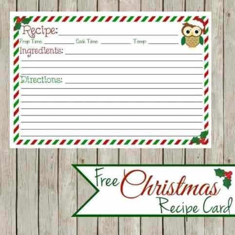 recipe card sample 12.46141